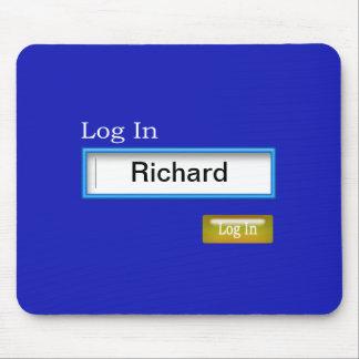 Log In Computer Mousepad