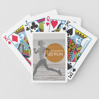 Log Off Shut Down Go Run Bicycle Playing Cards