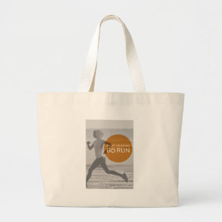 Log Off Shut Down Go Run Large Tote Bag