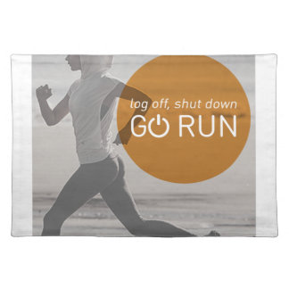 Log Off Shut Down Go Run Placemat