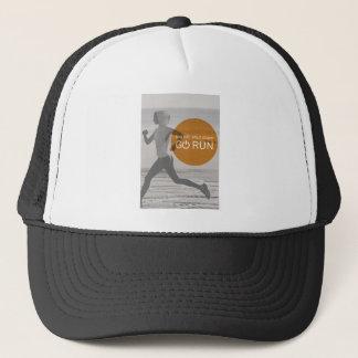 Log Off Shut Down Go Run Trucker Hat
