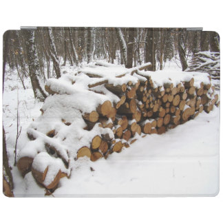 Log Pile in the Woods iPad Cover