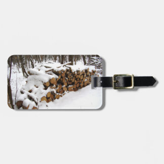 Log Pile in the Woods Luggage Tag