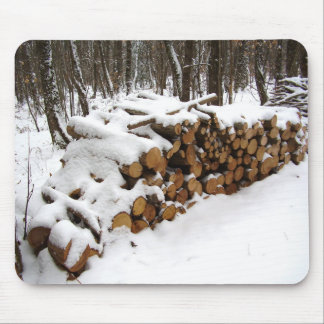 Log Pile in the Woods Mouse Mat Mouse Pad