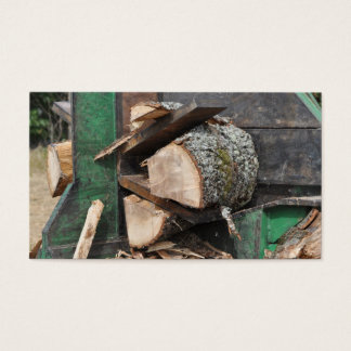 Log splitter business card