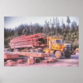 Log Truck print