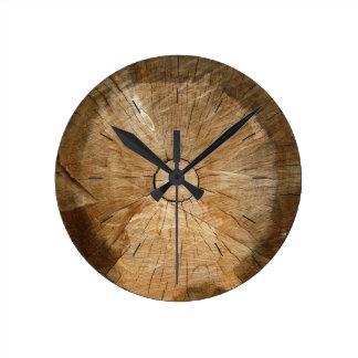 LOG WOOD  | natural tree sliced Round Clock
