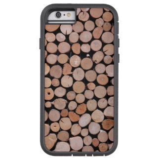 Log Wood Pile Brown Tough Xtreme iPhone 6 Case