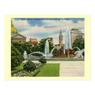 Logan Circle, Philadelphia Vintage Postcard