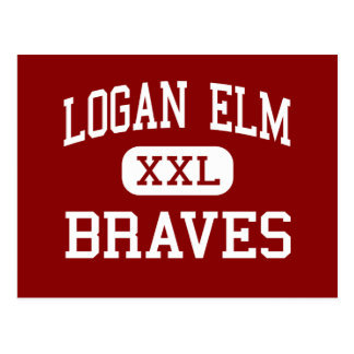 Logan Elm - Braves - High - Circleville Ohio Postcard