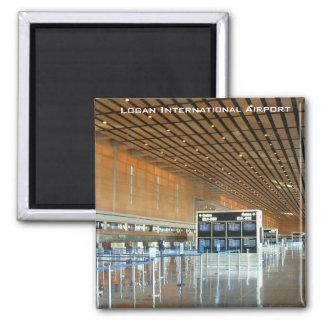 Logan International Airport Square Magnet