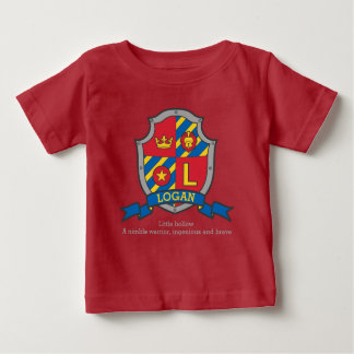 Logan name meaning crest knights shield baby T-Shirt