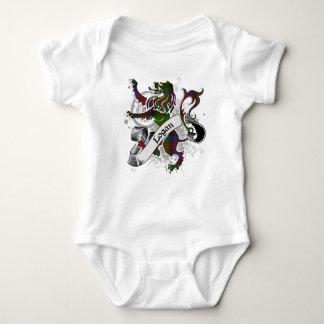 Logan Tartan Lion Baby Bodysuit