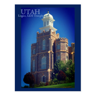 Logan, Utah LDS Temple Postcard