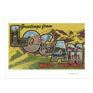Logan, West Virginia - Large Letter Scenes Postcard