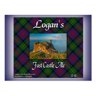 Logan's Fast Castle Ale Postcard