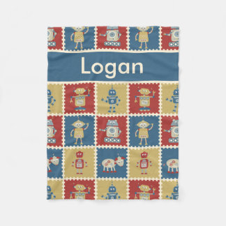 Logan's Personalized Robot Blanket