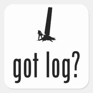 Logger Square Sticker