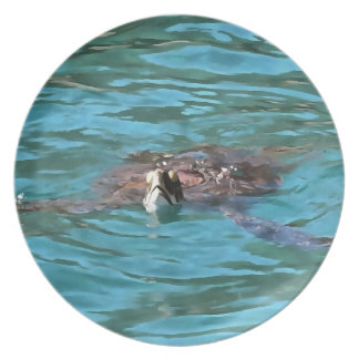 Loggerhead Sea Turtle Dinner Plates