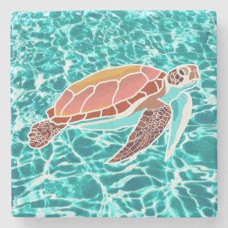 Loggerhead Sea Turtle Drink Coaster Stone Beverage Coaster