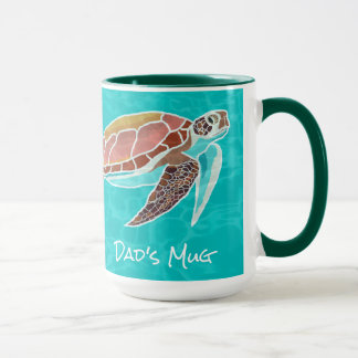 Loggerhead Sea Turtle Illustrated Dads Mug