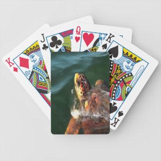 Loggerhead Turtle Bicycle Playing Cards