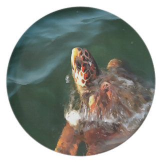 Loggerhead Turtle Dinner Plate