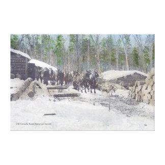 Logging Camp Canvas