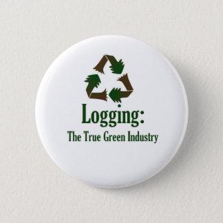 Logging: Green Industry 2 Inch Round Button