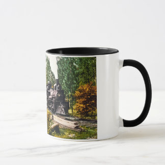 Logging Train at Iron Mountain, Michigan Mug