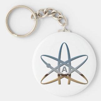 Logidea atheist atomic symbol keychain