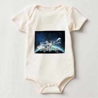 Logistics Globe Concept Baby Bodysuit