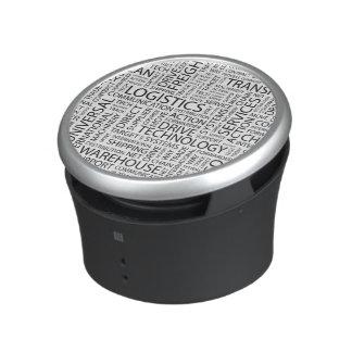 LOGISTICS pattern with words Bluetooth Speaker
