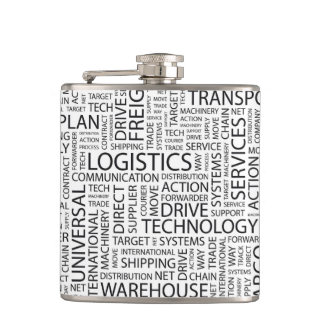 LOGISTICS pattern with words Flasks