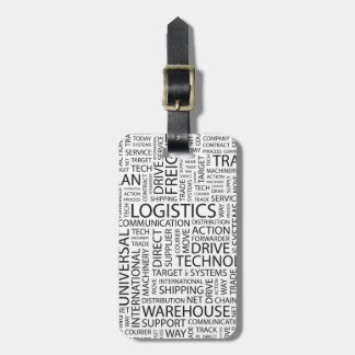LOGISTICS pattern with words Luggage Tag