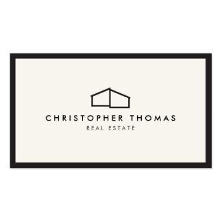 Logo à la maison moderne pour les immobiliers, carte de visite standard