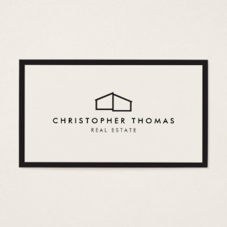 Logo à la maison moderne pour les immobiliers, cartes de visite