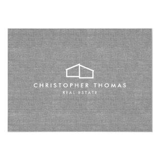 Logo à la maison moderne sur le carte pour notes carton d'invitation  12,7 cm x 17,78 cm