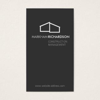 Logo à la maison moderne sur le gris pour la cartes de visite