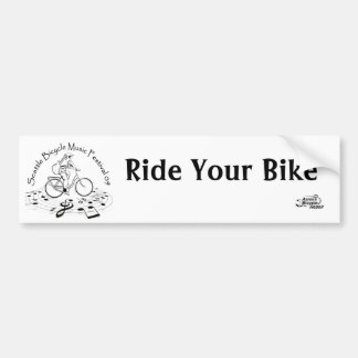 logo, abr logo, Ride Your Bike Bumper Sticker