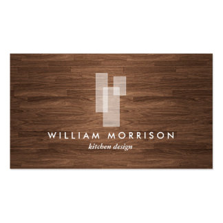 Logo architectural moderne sur la fibre de bois carte de visite standard