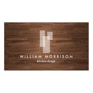 Logo architectural moderne sur la fibre de bois cartes de visite personnelles