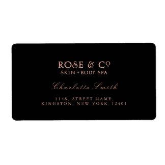 Logo Black Pink Rose Gold Return Address Labels
