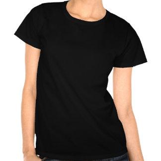 Logo blanc de silhouette d'amour de Subie Tshirts