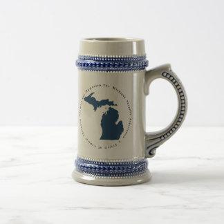 Logo bleu et blanc Stein Chope À Bière