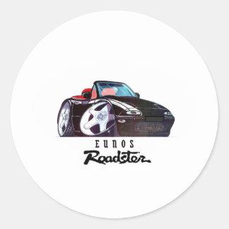 logo car image round sticker