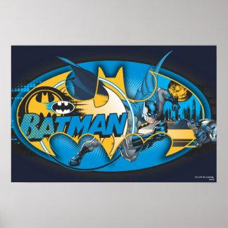 Logo classique de collage du symbole | de Batman Poster