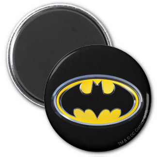 Logo classique du symbole | de Batman Magnet Rond 8 Cm