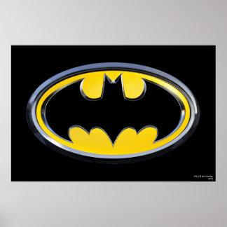Logo classique du symbole   de Batman Poster