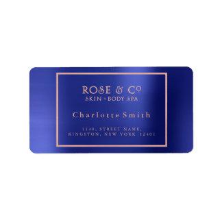 Logo Cobalt  Frame Rose Gold Return Address Labels